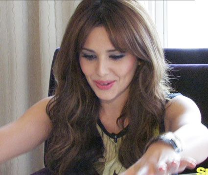 cheryl cole interview about swan dive and miming on the voice