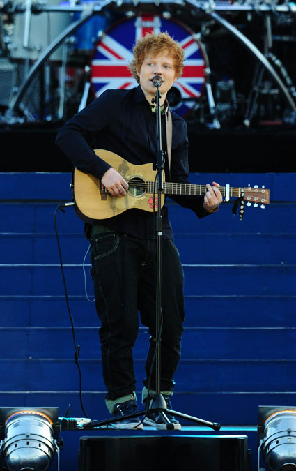ed sheeran at queen's diamond jubilee concert
