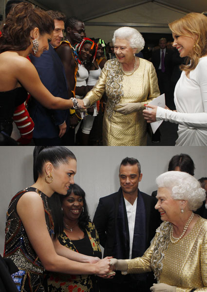 jessie j and cheryl cole meet the queen