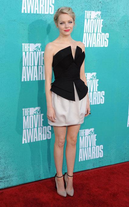 emma stone at the mtv movie awards 2012