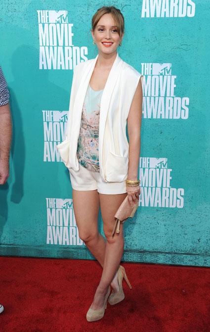 leighton meester at mv movie awards 2012