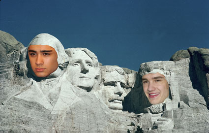 Zayn Malik and Liam Payne Mount Rushmore