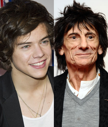 One Direction want to work with Ronnie Wood