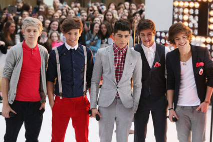 one direction on the today show 2012