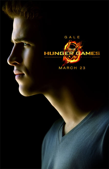 liam hemsworth poster for the hunger games gale hawthorne
