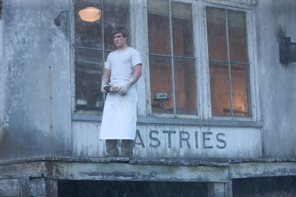 peeta mellark outside bakery in the hunger games, josh hutcherson