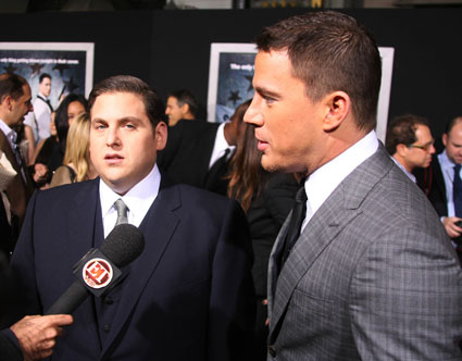 channing tatum and jonah hill at 21 jump st premiere