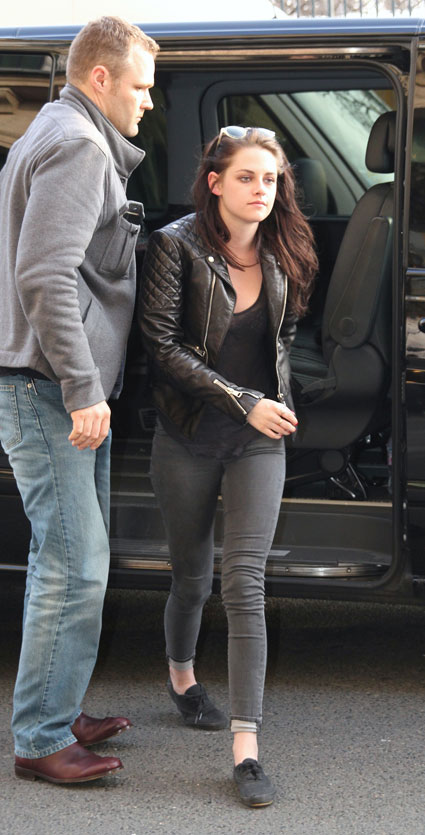 kristen stewart out in paris for fashion week 2012
