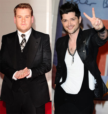 James Corden made a joke about Danny O'Donoghue and the Voice UK at the BRITs