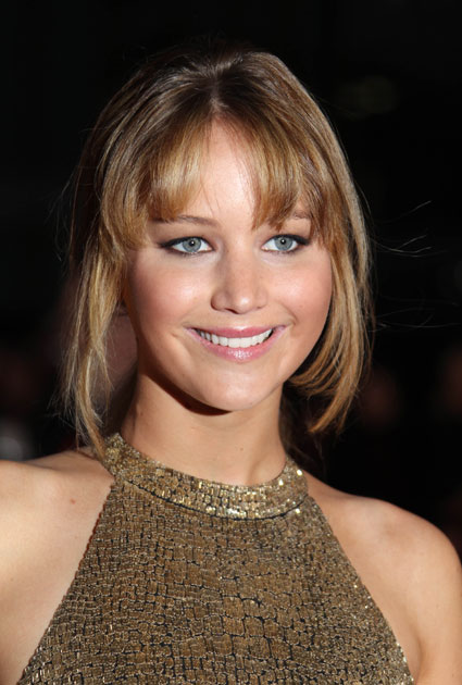 Jennifer Lawrence at the European premiere of The Hunger Games