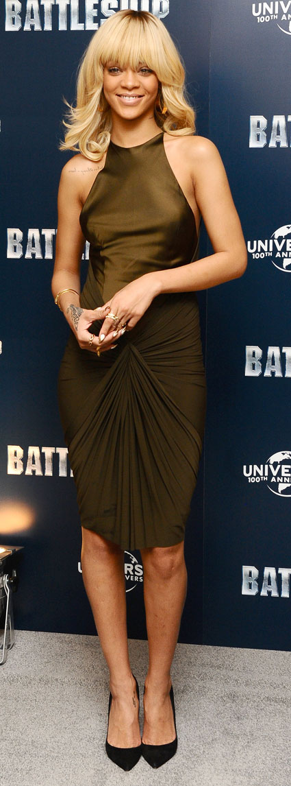 rihanna at battleship photocall