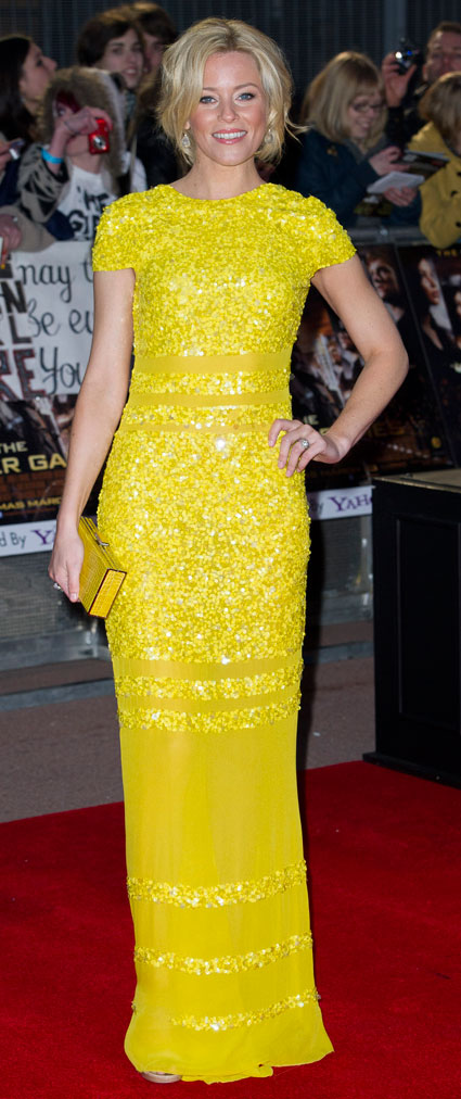 elizabeth banks at the hunger games uk premiere