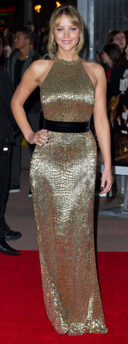 jennifer lawrence at the hunger games uk premiere