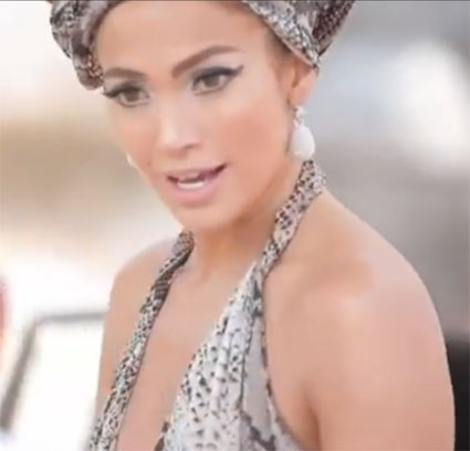 Jennifer Lopez   Music on Behind The Scenes Of Jennifer Lopez S I M Into You Music Video