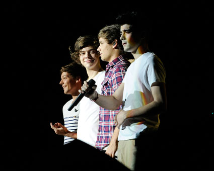 One Direction performing in Toronto