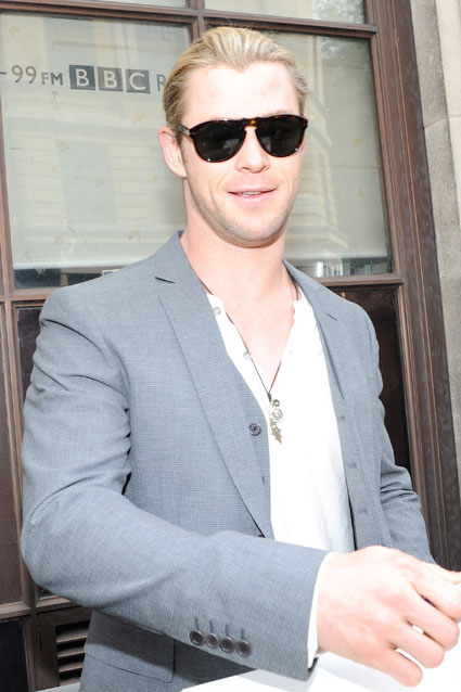 Chris Hemsworth arrives at BBC