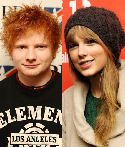 Ed Sheeran and Taylor Swift writing together