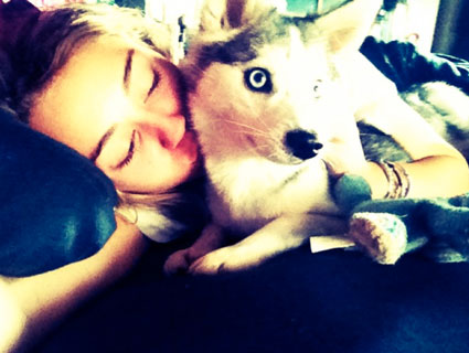 Miley Cyrus with Floyd