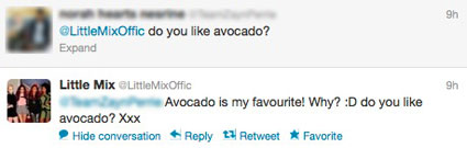 Perrie Edwards gets asked if she likes Avocado