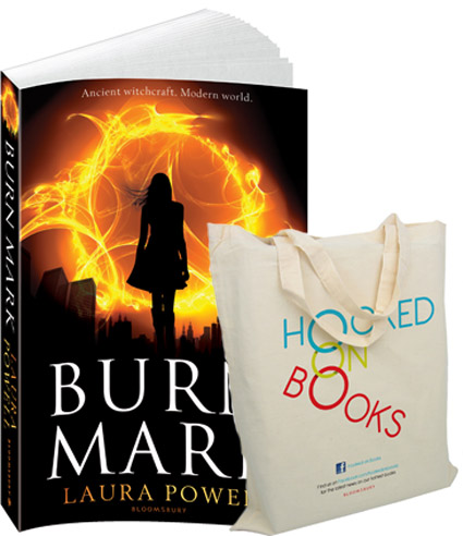burn mark book and hooked on books goodie bag