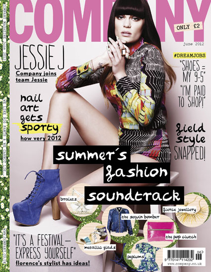 jessie j on the cover of company magazine june 2012