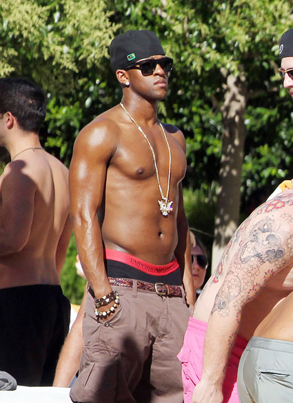 oritse williams from jls topless by the pool in las vegas