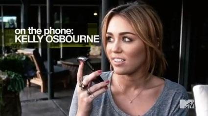 miey cyrus calling kelly osbourne