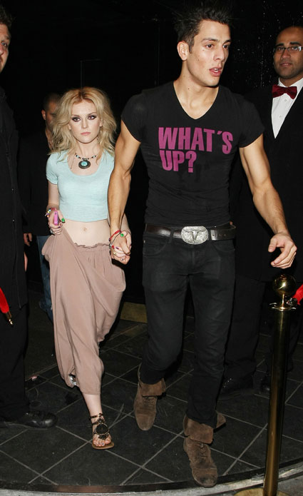 perrie edwards leaving rose nightclub eith mystery man