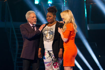 ruth brown getting voted off the voice uk