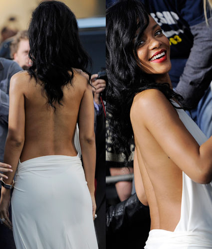rihanna at battleship premiere backless dress