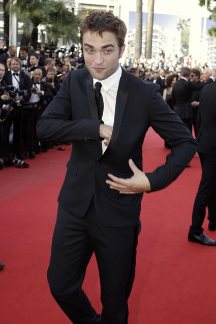 robert pattinson on the road premiere cannres