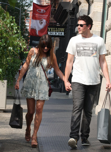 Lea Michele and Cory Monteith spotted holding hands in New York