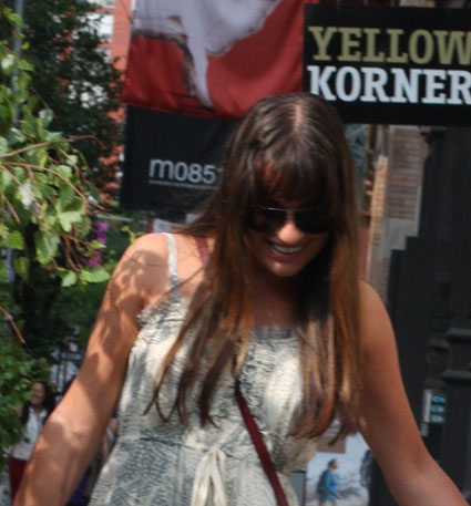 Lea Michele and Cory Monteith spotted holding hands
