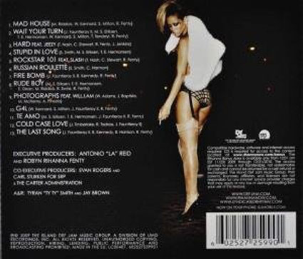 Rated R by Rihanna, £8.98, from Amazon. The Back. The Insert