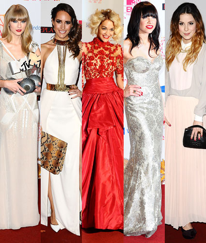 mtv ema fashion taylor swift rita ora carly rae jepsen
