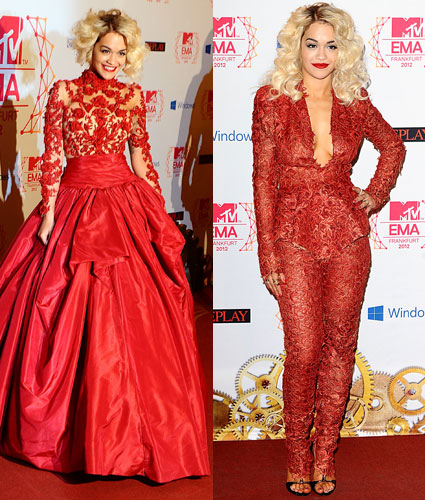 mtv ema 2012 rita ora fashion