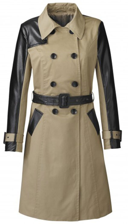 mollie the saturdays leather trench coat