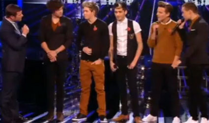 One Direcrion on The X Factor