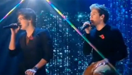 Harry Styles and Niall Horan X Factor