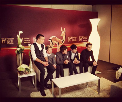 One Direction hit the red carpet at Germany's Bambi Awards where they one Best International Pop Act - VIDEO