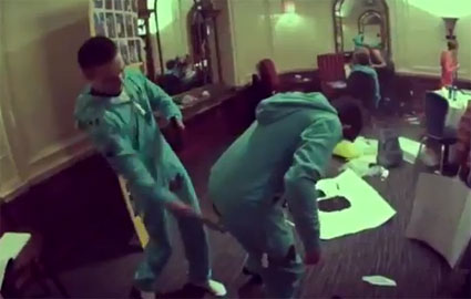 One Direction frolic in onesies and smack each other's bums with paint covered hands for OnePiece - VIDEO