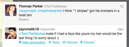 one direction the wanted twitter fight