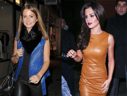 Millie Mackinstosh and Cheryl Cole fash off