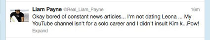 liam payne clears up rumours