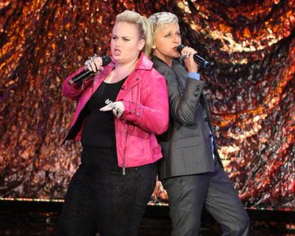 rebel wilson and ellen degeneres rap on The Ellen Show