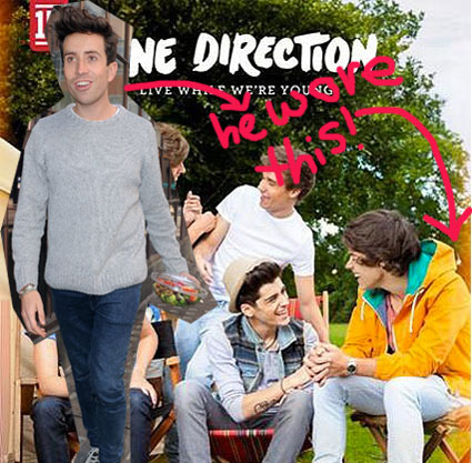 nick grimshaw wears harry's clothes
