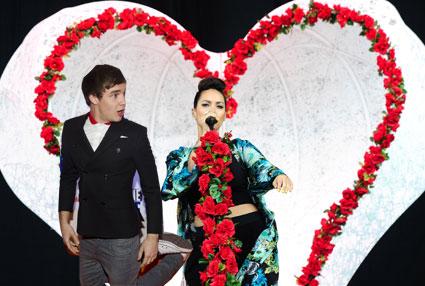 Liam Payne and Leona Lewis