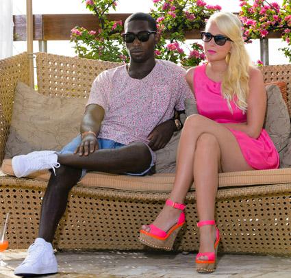 Tulisa in Pink Sandals