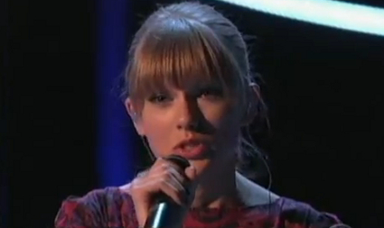 Taylor Swift performs new charity single Ronan