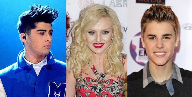 justin bieber shares kfc with zayn malik and perrie edwards